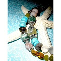 CHUNKY Gemstone SOUTHWESTERN NECKLACE, Handcrafted Chunky Gemstone... ❤ liked on Polyvore featuring jewelry, necklaces, chunky turquoise necklace, gem necklaces, vintage jade necklace, jade necklace and silver turquoise necklace