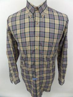 JOS. A. BANK Men's Traveler's Collection Button-Down Dress Shirt - LARGE - Plaid #JosABank
