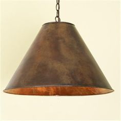 Hammered Copper-Finish Metal Shade Pendant  14hx20w  $129