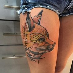 90 Fox Tattoo Designs For Men And Women Fox Tattoo Design Thigh Tattoo Designs Tattoo Designs Men