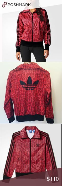 ADIDAS SnakePrint Jacket NEW!! Brand New! RARE Original Adidas Snake Print zip up Jacket!! Will look Super Cute with a pair of your favorite distressed jeans...even a tank and heels Final Price Discount applied to a Bundle Adidas Jackets & Coats