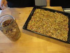 Una vez retirada del horno así queda la Granola Casera con Rooibos Lemon Pie