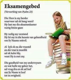 Eksamengebed School Clipart, Psalm 23, Afrikaans, Good Morning Quotes, Prayers, Spirituality, Parenting, Mindfulness, Clip Art