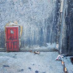 """Tiny Door"" street art installation. Artist Unknown.  #DopeShotBro #streetart #sidewalkart #urbanart  #rsa_streetview #tv_streetart #urbanwalls #photooftheday #ny #nyc #les #lowereastside by artseenny"