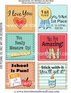 It's Written on the Wall: {Freebie) 2nd Set Lunchbox Notes Have Arrived Just in Time for Back to School