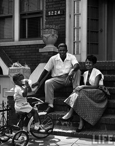 Jackie Robinson with wife Rachel and son Jackie, Jr.
