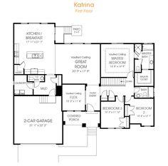 Katrina | Rambler House Plan Utah Home | EDGE Homes