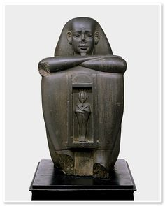 Block statue of a governor, Late Period, Dynasty 26 (ca. 664–525 B.C.) Egyptian Graywacke  14 in. (30.5 cm) Purchase, Lila Acheson Wallace Gift, 1982 (1982.318)