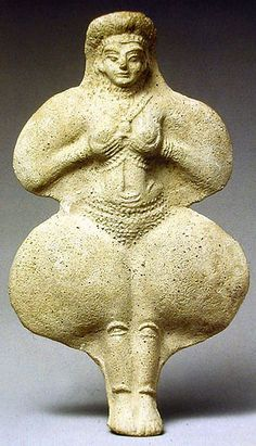 """Terracotta figure, southwest Iran, ruins of Susa, the great city of ancient Elam. The Elamite religion, according to one classical writer, was """"characterized by uncommon reverence and respect for womanhood."""" Elamite goddesses called Kiririsha and Pinikir, also known as Inanna or Ishtar."""