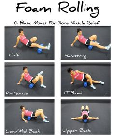 How to roll out your sore muscles on a foam roller.