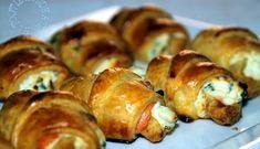 Mini-Croissants mit Lachs und Frischkäse. Entdecke unser Rezept.