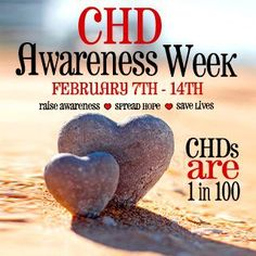 CHD Awareness Week is almost but it's not too late! Wear red and spread the news about congenital heart disease! 1 in 100