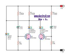 12V SLA Battery voltage level indicator circuit