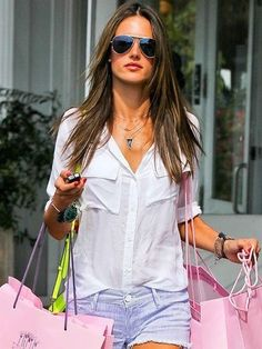 Bella Dahl Patch Pocket Button Down Shirt as Seen On  Alessandra Ambrosio
