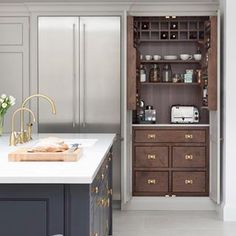 The fight for hidden kitchen appliances and how to win them The Battle Over Hidden Kitchen Appliances and How to Win It - Own Kitchen Pantry Pantry Cupboard, Kitchen Pantry Cabinets, Kitchen Appliances, Cupboard Ideas, Cupboard Design, Pantry Design, Shaker Cabinets, Kitchen Island, Home Decor Kitchen