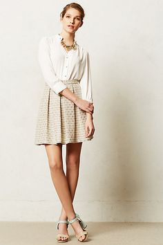 Paper Crown Flickered Tweed Skirt