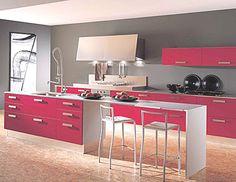 unique solutions pink kitchen