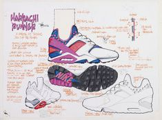 Return of the Nike Air Huarache OG . We love the Nike Air Huarache here at Crooked Tongues . Nike Air Huarache, Lps, Basket Originale, First Air Jordans, Sneakers Sketch, Nike Mag, Tinker Hatfield, Baskets, Shoe Sketches