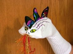 Love the Dragon Sock Puppet by Margie