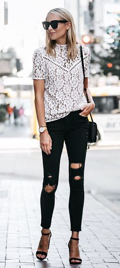 #summer #outfits The Prettiest Lace Top For Under $50!