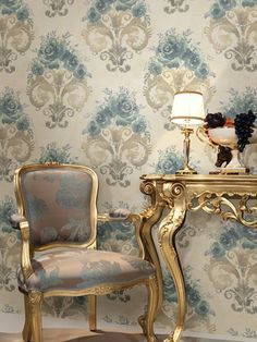 Vintage style with wallpaper