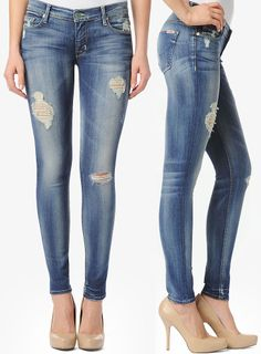 a77ea9865b6 HUDSON Jeans Krista Super Skinny in Blondie :: Like the distressing/holes  placement Buy