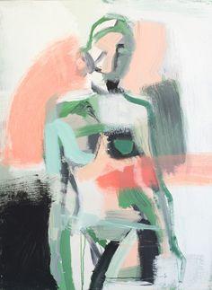 Coral and Emerald Twist Print, 18x24