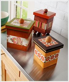 Stained Stacking Boxes #PlaidCrafts