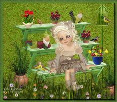 A misty rain Day. Pixie, Dallas Cowboys Logo, Rain Days, Square Card, Little Designs, Grafik Design, Elves, Garden Sculpture, Witch