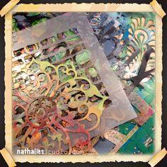 My Favorite Mixed Media Essentials Series by Nathalie Kalbach. Part 5: Stencils