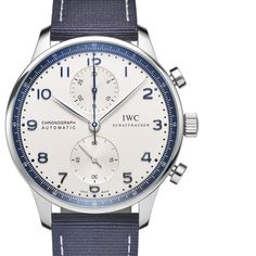 Blue highlights set the standard for the all new IWC Portugieser Chronograph Bucherer BLUE. Blue Highlights, Iwc, Chronograph, Omega Watch, Stuff To Buy, Passion, Accessories, Ornament