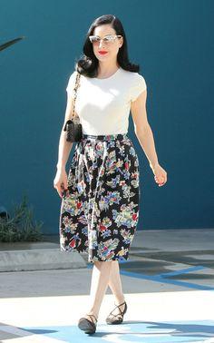 How to get Dita Von Teese's floral look