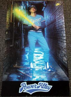 Dale Murphy POWER ALLEY Atlanta Braves Vintage Original Nike Poster (1982) - Sold for $71.52 Oct 2013