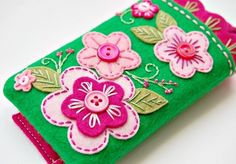 Phone Case- Green and Pink Garden