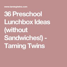 36 Preschool Lunchbox Ideas (without Sandwiches!) - Taming Twins