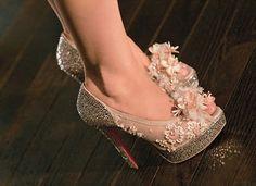 Amazing rhinestone Louboutin shoes