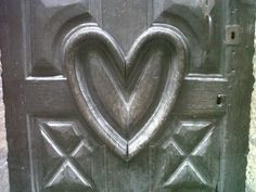 Pezenas - heart door. You'd have to love the person who made this
