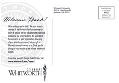 Young alumni solicitation letter personalized with major