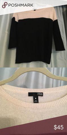 Aqua Cashmere Color block Sweater Super soft and cozy color block cashmere sweater. Aqua Sweaters Crew & Scoop Necks