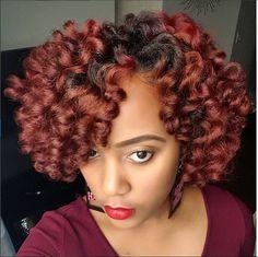 Colored natural hair -red http://www.shorthaircutsforblackwomen.com/hair-steamers-for-natural-hair/