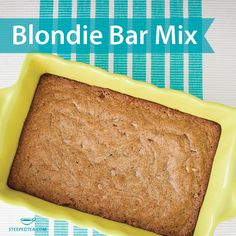 New from Steeped Tea! Our Steeped Tea Blondie Bar Mix will be the highlight of your party. www.steepedtea.com