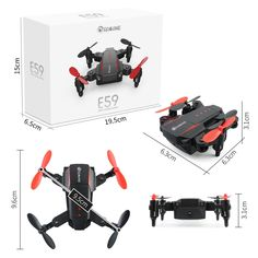 Eachine E59 Mini 2.4G 4CH 6 Axis Foldable Arm Headless Mode RC Drone Quadcopter RTF Euro 11.95
