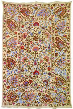 Vintage Antique Uzbek Suzani From Bukhara Made by SilkRoadCaravans, $400.00