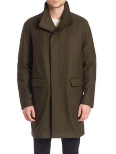 VINCE Raw Edge Military Coat. #vince #cloth #coat