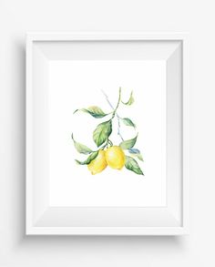 Lemons,Lemons print,watercolor print,kitchen decor,digital prints,fruit art