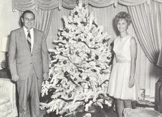 The Davises at their annual Christmas Party, circa 1970.
