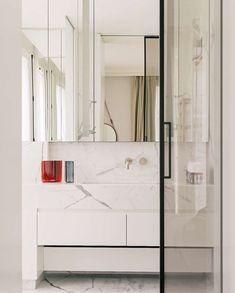 "madabout-interior-design: ""In Paris, under the Eiffel Tower, a apartment… Pierre Jeanneret, Belle Epoque, Paris, Elle Decor, Magazine Design, Double Vanity, Interior Design, Inspiration, Furniture"
