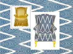 Ditching the pleated skirt took 50 years off this wingback chair! #hgtvmagazine // http://www.hgtv.com/design/decorating/furniture-and-accessories/6-stunning-ugly-chair-makeovers-pictures?soc=pinterest