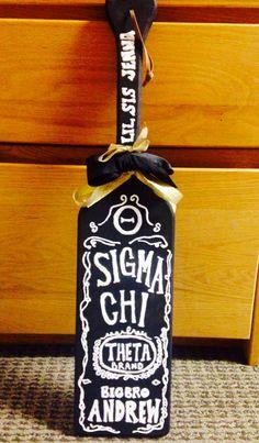 Kappa Alpha Theta/Sigma Chi big and little paddle #kappaalphatheta #sigmachi #theta