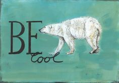 """Kunstverstecke """"Be cool"""" Eisbär von Marion Ruhrberg / auf meine ART... auf DaWanda.com"""